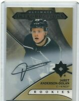 2018-19 Ultimate Autograph Rookie Introductions Gold Jaret Anderson-Dolan