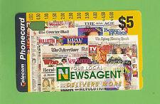 #D175. NEWSAGENT  $5  AUSTRALIAN PHONECARD