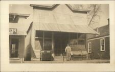 Storefront - Man & Old Furniture in Front c1910 Real Photo Postcard