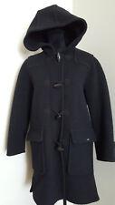 Giesswein Womens Pure Wool Long Coat Hooded Size 4 EU 34