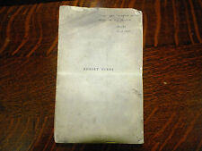 Robert Burns The Man And His work Hans Hecht Corrected Galley Proof 1935 Signed