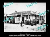 OLD LARGE HISTORICAL PHOTO OF GLENLYON VICTORIA, VIEW OF THE STORE & P.O, c1890
