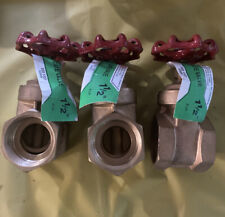 "Lot Of 3! Ldr 1-1/2"" Gate Valve 0201107 6851075 200 Wog New"