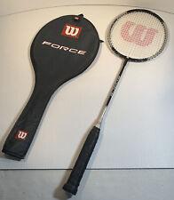 Wilson Force Badminton Racket with Cover Titanium Excellent Condition FREE P&P