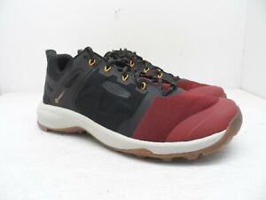 KEEN Men's Explore Vent Trail Hiking Shoes MERLOT/BLACK Size 9M