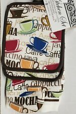 New listing 3 pc Kitchen Set: 1 Pot Holder, 1 Towel & 1 Oven Mitt, Colorful Coffee Cups, Bh