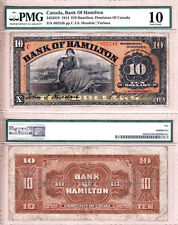 Bank of Hamilton 1914 $10. Attractive Large Size Chartered Bank Issue. PMG VG10