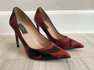 """Valentino 4"""" Leather Camo Pumps 35 - Excellent Used"""