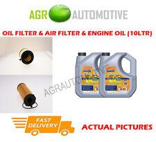 DIESEL OIL AIR FILTER KIT + LL 5W30 OIL FOR AUDI A4 2.7 190 BHP 2007-12