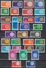 Year set Europa CEPT 1970 complete MNH