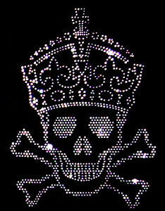 CRYSTAL SKULL & CROWN GOTH PIRATE  HOODY  HOODIES (any size)