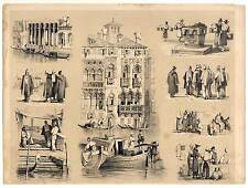 Venedig - Lithographie von Samuel Prout um 1840