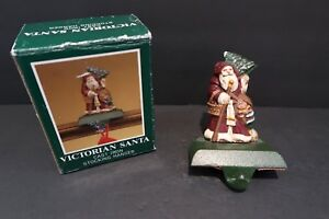 Midwest Cannon Falls Cast Iron Victorian Santa Stocking Hanger and Box Rare
