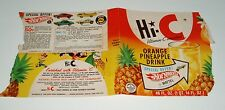 1967 HI-C Drink Label w/ Mattel HOT WHEELS Premium offer