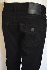 True Religion RICKY SUPER T STRAIGHT Jeans Men SZ 34 IN DARK RIDER BLACK