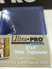 "Ultra Pro 3""x4"" 55 Point NEW Top Loaders Pack Of 25-Best for NRL cards"
