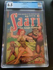 SAARI #1 (Only Issue), Jungle GGA! CGC Graded FN+ 6.5, P.L. Publishing (1951)