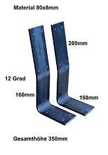 2 x Rückenlehnenhalter Stahl für Bankkufen 80x8mm Rückenlehne Tischkufen Bänke