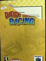 Diddy Kong Racing N64 Game Instruction Booklet Manual Only Nintendo 64