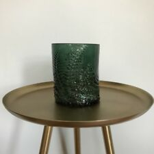 Green Glass Fern Vase Storage Pot Utensil Stationery Toothbrush Trinket Holder