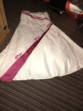 Forever Yours Wedding Dress Size 28 Cerise Pink Detail