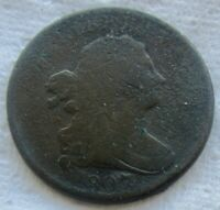 1807 Draped Bust Half Cent VG Detail Corrosion