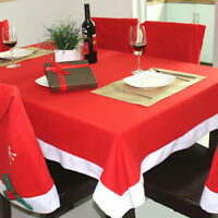 Red & White Santa Christmas Table Cloth Tablecloth Decoration Xmas Dinner Party