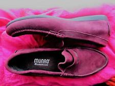MUNRO SHOES BURGUNDY SUEDE LOAFERS SIZE 9 M/39 MADE IN USA !