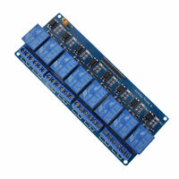 8 Channel DC 5V Relay Shield Module for Arduino Raspberry Pi DSP AVR PIC ARM Mj