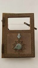 Great Antique American Device Brass Combo Lock Post Office Box Door