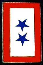 2 Star Military Service Bar Lapel Pin Son Daughter Blue Military Cap Tac New