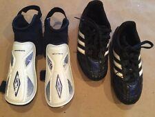⚽️ Adidas Puntero SOCCER CLEATS Size 11 K & UMBRO SHINGUARDS Size Youth Med