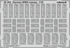 EDUARD 36362 WWII German Clamps in 1:35