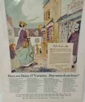 1924 Heinz Foods 57 Varieties List of Products Can You Name vintage print ad