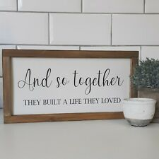Kitchen Hallway Handmade Framed Wooden Signs Home Rustic Farmhouse Gift