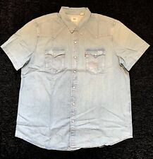 "Levis mens Short Sleeve Western Shirt, XX Large 48"" Chest"