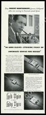 1942 Lady Lord Elgin watch 3 styles photo vintage print ad