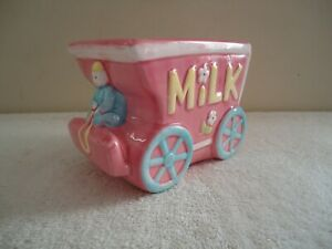 """Vintage My - Neil Pink Multi Color Milk Wagon Planter """" BEAUTIFUL COLLECTIBLE """""""