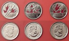Brilliant Uncirculated 2009 Canada 3 Moments Color 25 Cents From Mint's Rolls