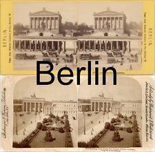 18 STEREOFOTOS VON BERLIN UM 1900, SERIE 2
