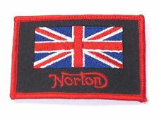 Norton Union Jack Patch UK Made in England classic motorcycle