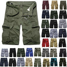 Mens Army Military Cargo Combat Shorts Summer Camo Short Pants Casual Trousers