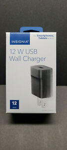 Insignia 12W USB Black Wall Charger for Smartphones; Tablets & More NEW in BOX