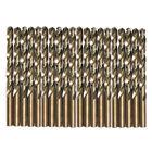 Drillforce 20PCS 1/8' Cobalt Drill Bit Set HSS M35 Jobber Length Metal Drill Bit