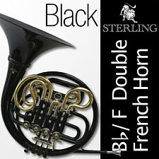 Black STERLING Bb/F Double French Horn • Pro Quality • Backpack Case • FREE SHIP