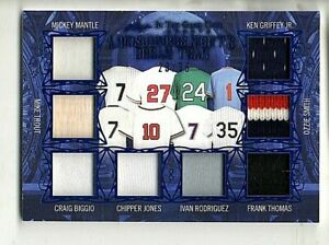 2020 Leaf In The Game Used Sports 8x Relic #/35 Mickey Mantle Mike Trout Griffey