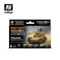 AV Vallejo Model Color Set -  WWII Italian Armour&Infantry   (6)  VAL70209
