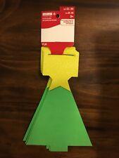 "Creatology Christmas Foam Shaped Tree 9"" x 6.6"" 4 pc New"