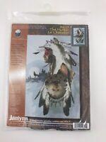 """Janlynn Cross Stitch Kit  """"The Hunter""""  #126-25,  14x22"""
