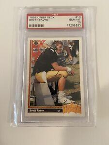 Brett Favre 1991 Upper Deck #13 Rookie Card RC PSA 10 Gem Mint Packers Falcons